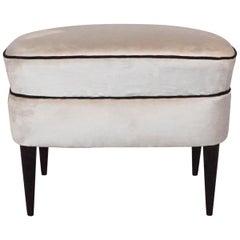 Italian Upholstered Stool, circa 1960