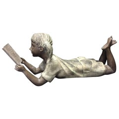 Italian Bronze Figure of a Little Girl