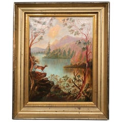 "Marion Merritt Oil Painting Hudson River School Lake George ""Paradise Bay"""