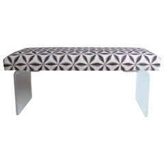 Upholstered Lucite Bench