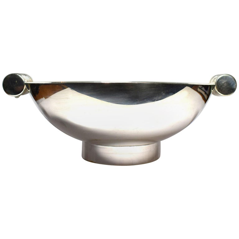 Art Deco Modernist Silver Plated Bowl