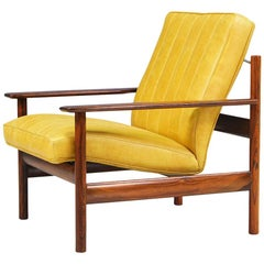 Sven Ivar Dysthe Rosewood and Leather Lounge Chair for Dokka Møbler