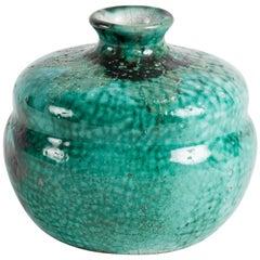 Primavera, Round Art Deco Vase, France, Early 20th Century