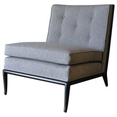 Ebonized Slipper Chair by T. H. Robsjohn-Gibbings, circa 1960