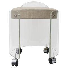 Round Lucite Vanity Chair