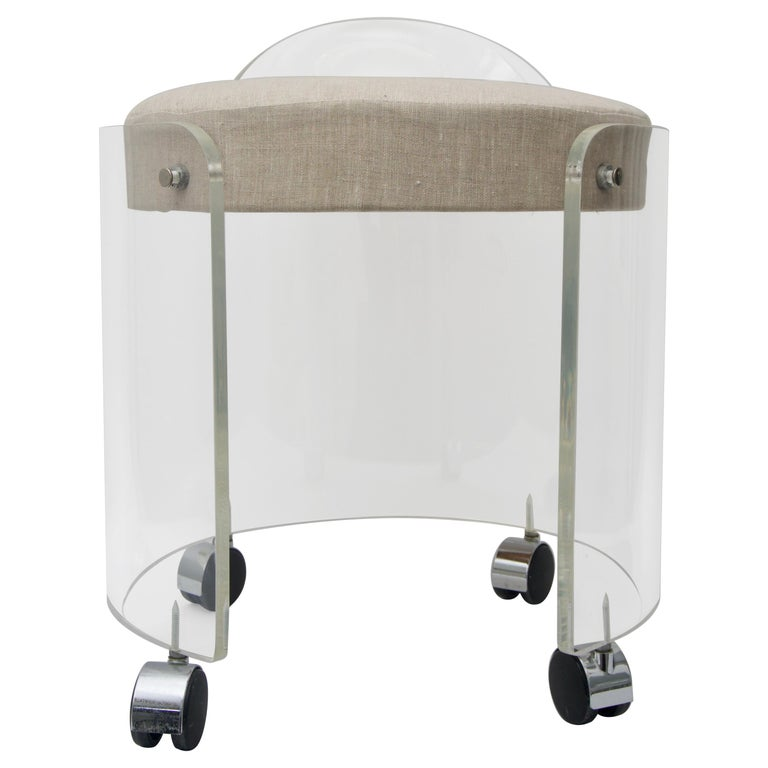Round Lucite Vanity Chair For Sale At 1stdibs