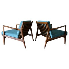 Walnut Lounge Chairs by I.B. Kofod-Larsen for Selig, circa 1965