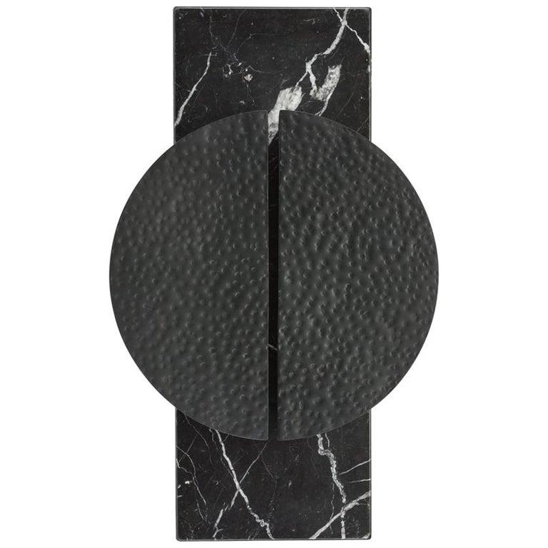 Halo Sconce Nero Marquina Marble