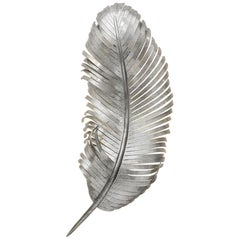 JOSETTE SCONCE - Modern Hand Forged Feather Sconce in Silver Leaf