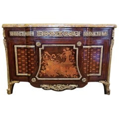 19th Century Louis XVI Style Commode After Jean Henri Reisener