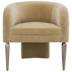 Pompe Chair Mohair Linen