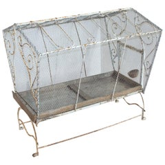 Large Vintage French Bird Cage