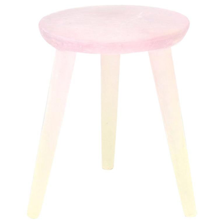 Glow Side Table/Stool 'Pink/Yellow' in Recycled Plastic