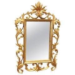 Italian Florentine Style Carved Giltwood Mirror, 19th Century