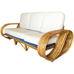 "Restored 1930s Six-Strand ""Infinity"" Arm Streamline Sofa"