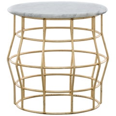 Halston Side Table Gold