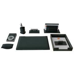 French Leather Desk Set