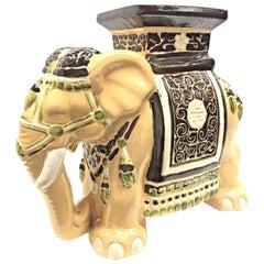 Gorgeous Vintage Hollywood Regency Chinese Elephant Garden Seat