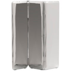 Sonar Mirror in Polished Stainless Steel by Zieta