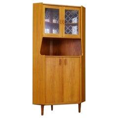 Corner Cabinet Teak Danish Design Vintage
