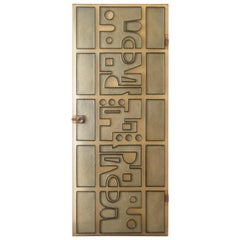 Midcentury Modern Lucite Panel Door, 1970s, France
