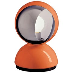 Artemide Eclisse Table E12 Table Lamp in Orange by Vico Magistretti