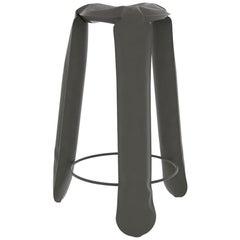Plopp Bar Stool in Umbra Grey Steel by Zieta