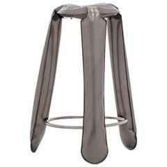Plopp Bar Stool in Industrial Steel by Zieta
