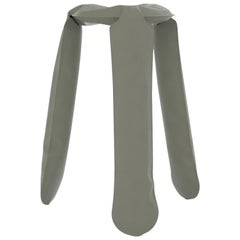 Plopp Kitchen Stool in Moss Grey Steel by Zieta