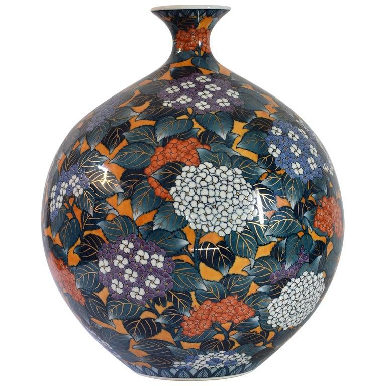 Large Japanese Imari Hand-Painted Porcelain Vase by Master Artist