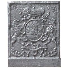 German Louis XIV Style 'Coat of Arms' Fireback
