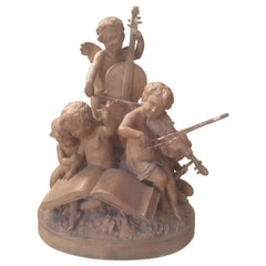 Early 20th Century French Terracotta Musician Sculpture
