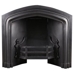 Grand Victorian Neo Gothic Fireplace Register Grate Insert, circa 1850