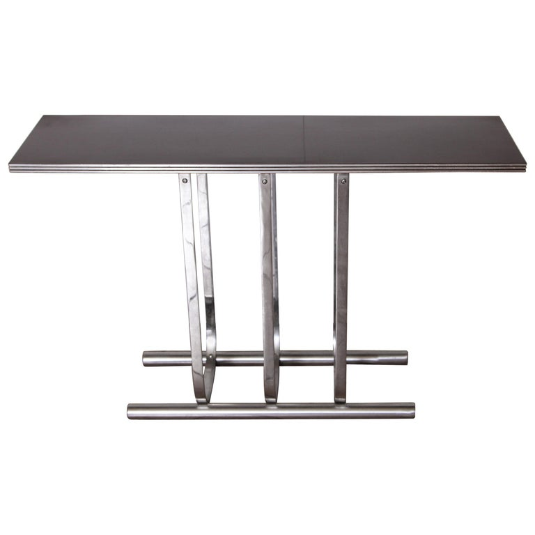Gilbert Rohde for Troy Sunshade Machine Age Art Deco Console Table