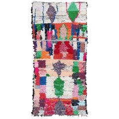 Moroccan Berber Rug, Hand-Knotted Fabrics, 1990s