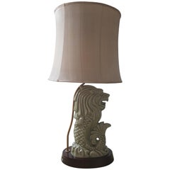 Japanese Dragon Table Lamp 1960s-1970s Hollywood Regency