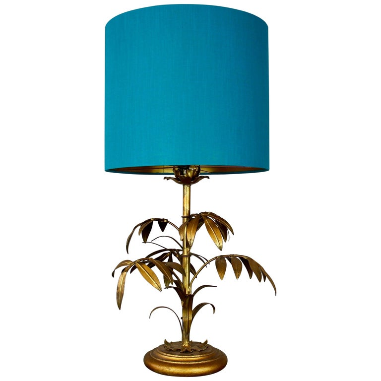 Florentine Table Lamp with Gilded Leaves, circa 1970