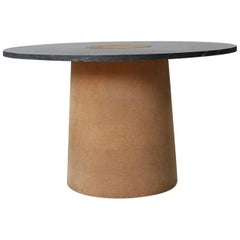 Contemporary Sintra Dining Table with Black Marble and Natural Cork
