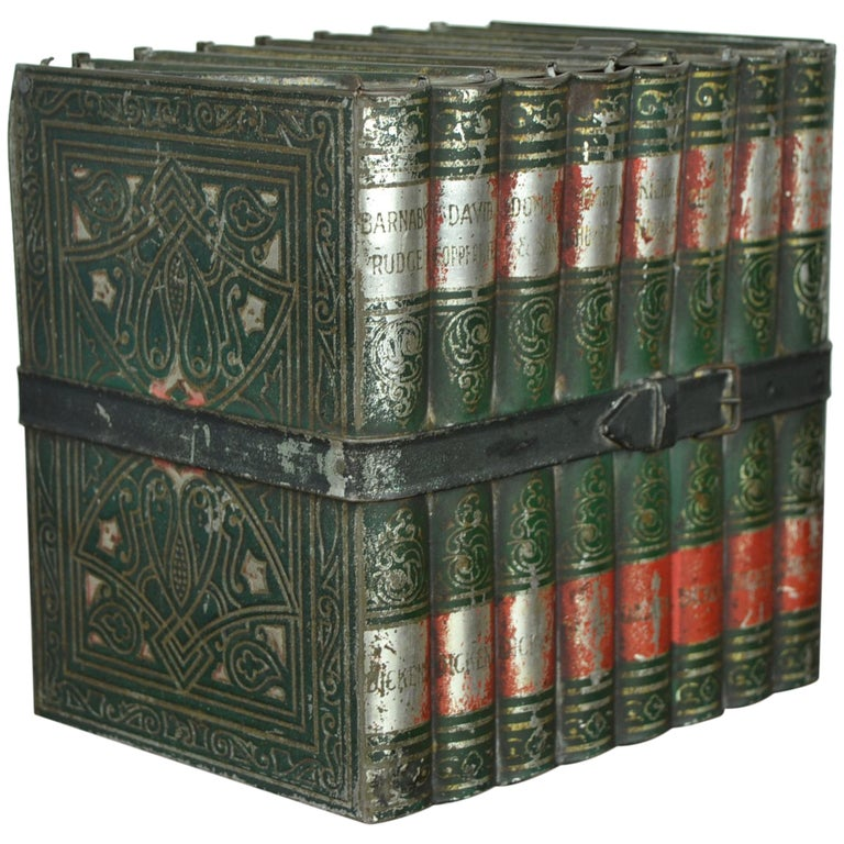1903 Huntley and Palmers Tin Books Box by Sir Walter Scott For Sale