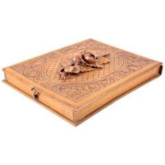 Cigar Box Hand-Carved, Austria, circa 1900
