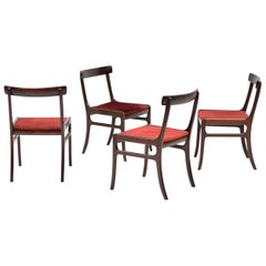 Set of Four Ole Wanscher Rungstedlund Chairs