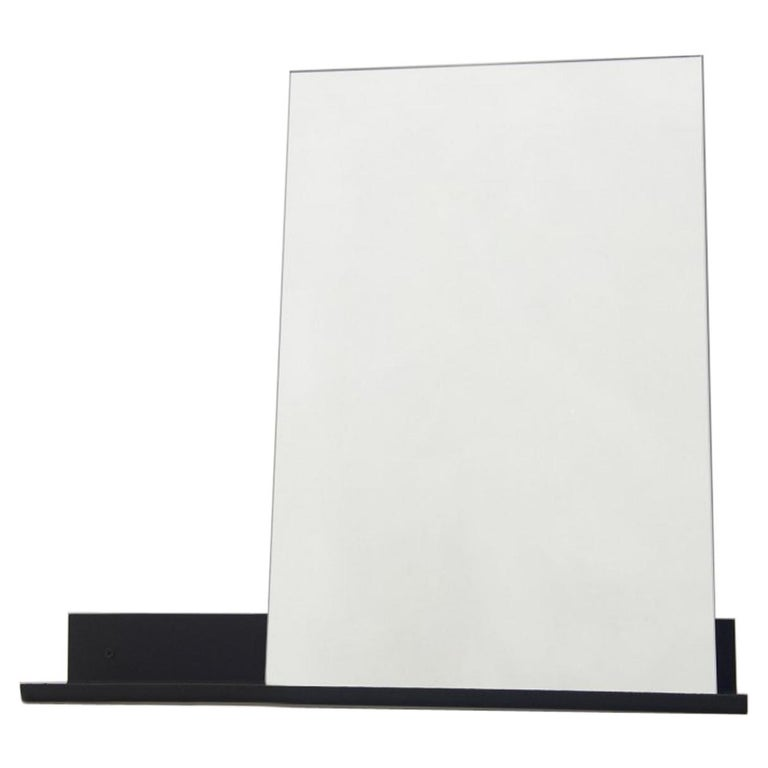 Contemporary Mirror Shelf Small with Powder Coated Steel