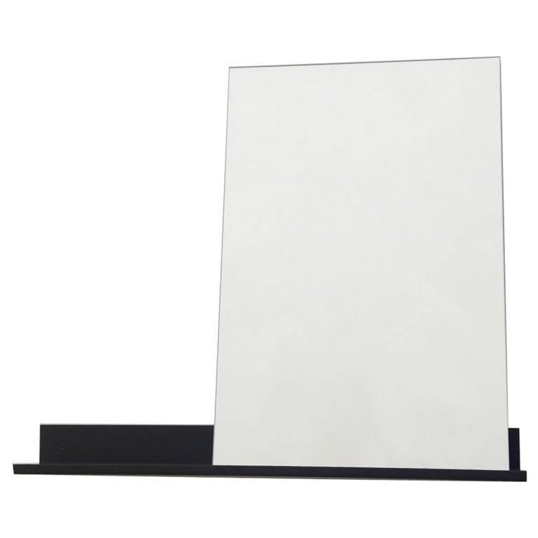 Contemporary Mirror Shelf Medium with Powder Coated Steel
