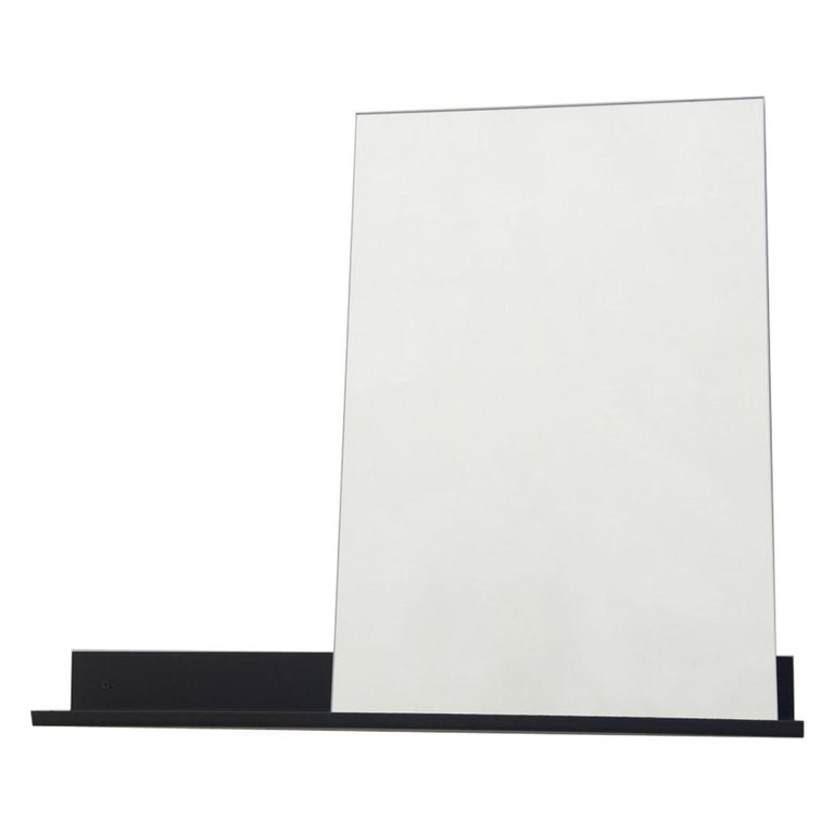 Contemporary Mirror Shelf Large with Powder Coated Steel