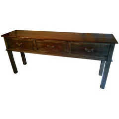 Reproduction Three-Drawer Sideboard with Green Wash