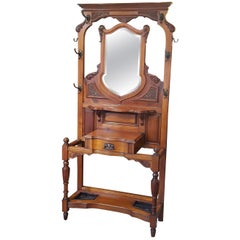 Late 19th Century Arts & Crafts Mahogany Hall Stand