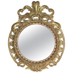 French Rococo Style Gold Leaf Carved Mirror
