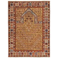 Antique Prayer Design Caucasian Dagestan Rug