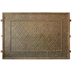 1840s Teak Wood and Bronze Ceiling Panel from a Jain Temple in Gujrat