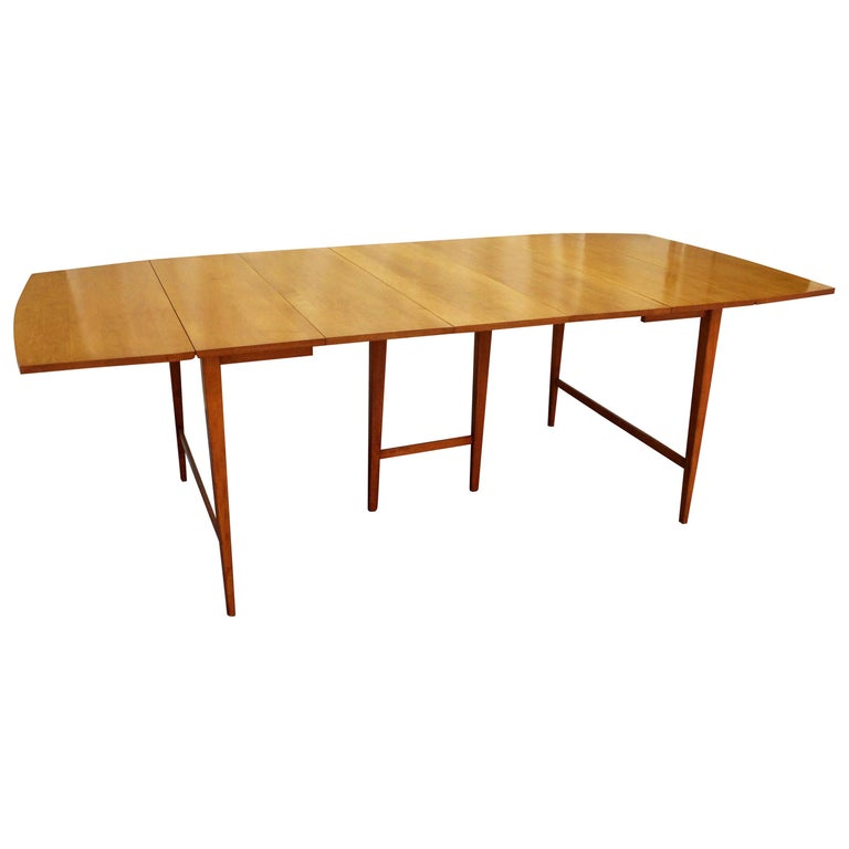Mid-Century Modern Paul McCobb Planner Group Drop-Leaf Dining Table